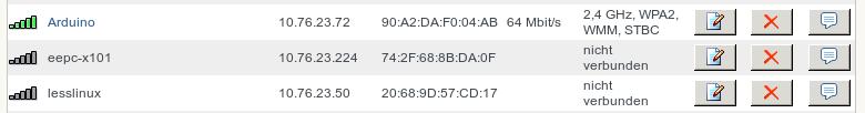 Im Log der Fritz!Box gefunden: Am besten,  Sie vergeben eine fixe MAC-IP-Zuordnung